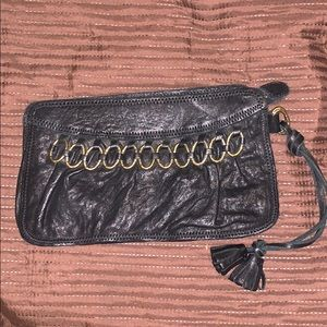Lucy Brand Leather Wristlet